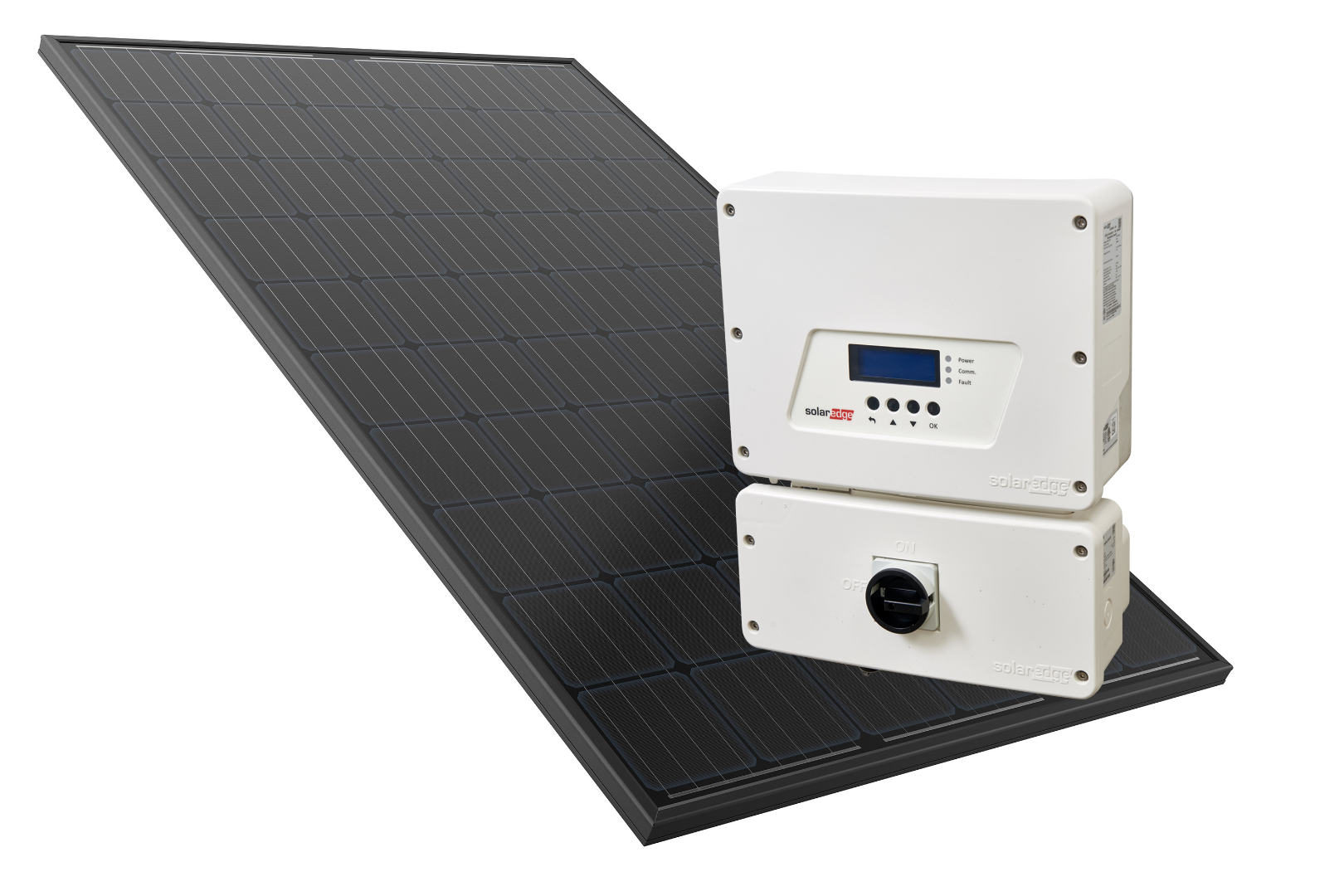 Our Panel Optimised PV systems use REC 280w twin peak panels and SolarEdge Inverters